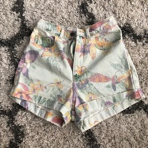 American apparel flower shorts